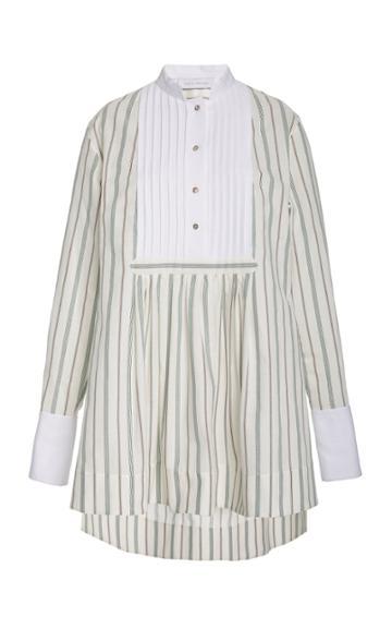 Moda Operandi Marina Moscone Striped Cotton-blend Blouse