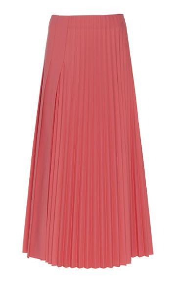 Joseph Sallis Pleated Wool-blend Midi Skirt