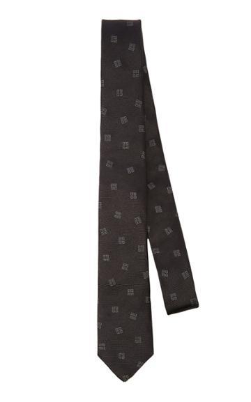 Givenchy Ties Logo-jacquard Silk Tie