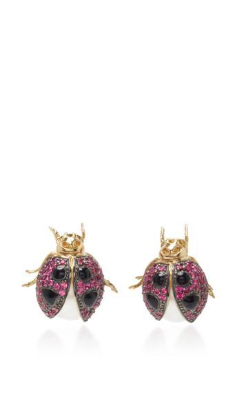 Anabela Chan Ladybug Earrings