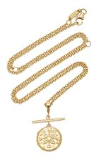 Azlee Compass 18k Yellow Gold Diamond Necklace