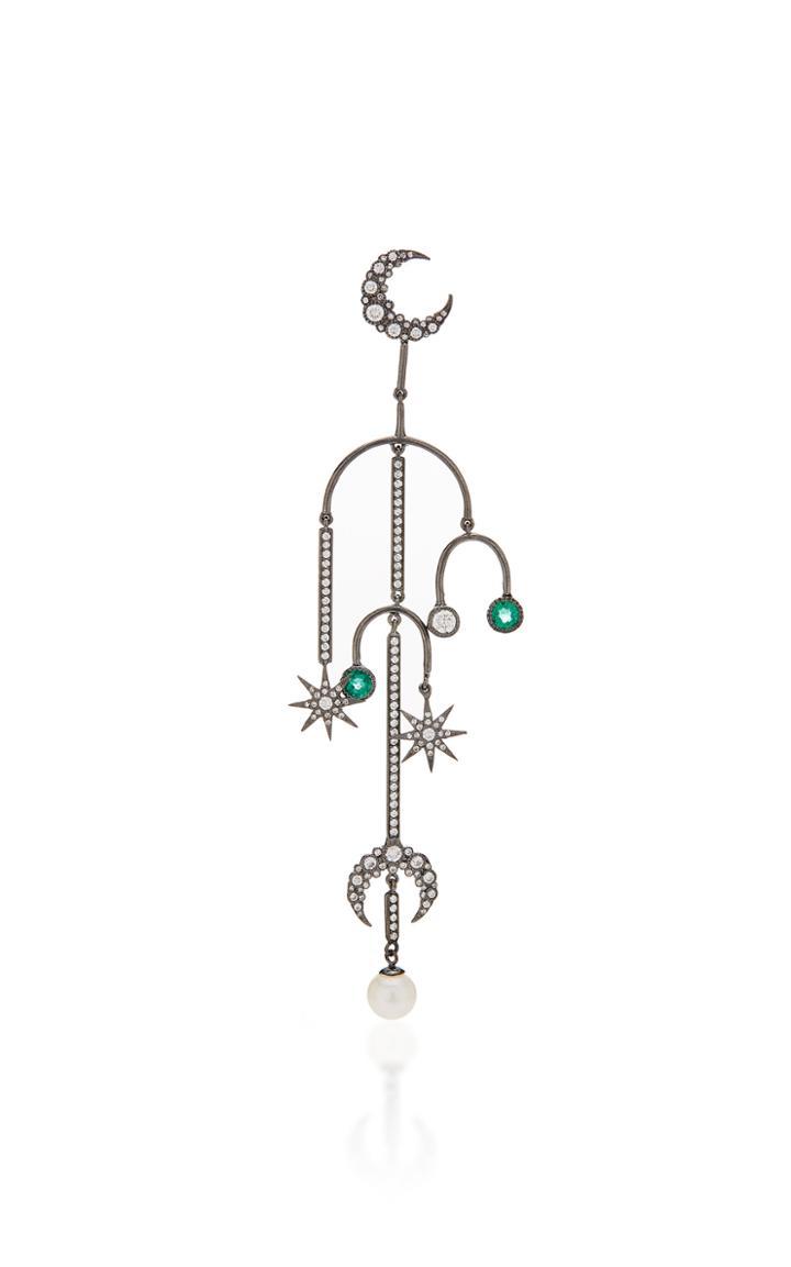 Colette Jewelry Single Star Moon Earring
