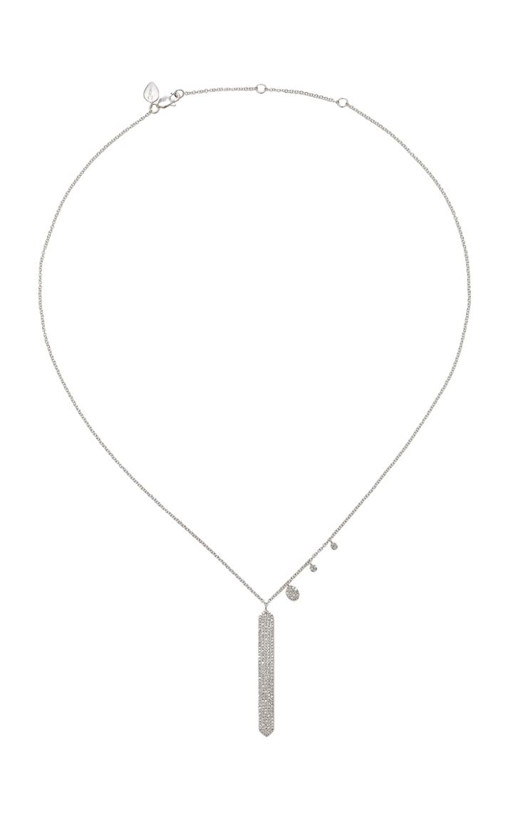 Meira T 14k White Gold Diamond Necklace