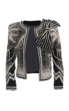 Balmain Embellished Collarless Jacket