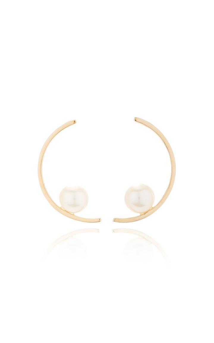 Mateo Half Moon Pearl Earring