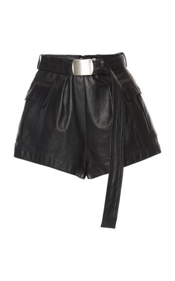 Philosophy Di Lorenzo Serafini Belted Leather Shorts
