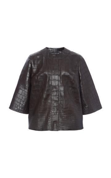 Moda Operandi Dolce & Gabbana Crocodile Jacket Size: 36