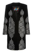 Moda Operandi Libertine Gothic Spire Printed Stretch Wool Coat