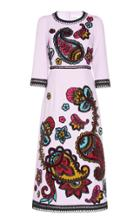 Andrew Gn Embroidered Midi Dress