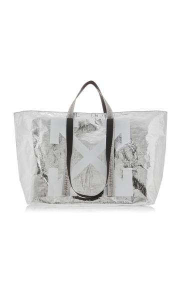 Off-white C/o Virgil Abloh Metallic Logo Tote