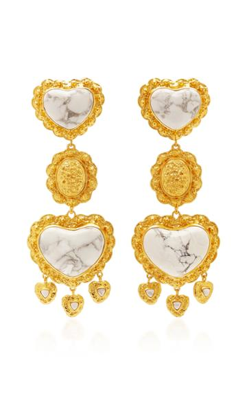 Valre Spellbound Gold-plated And Howlite Earrings