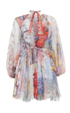 Moda Operandi Zimmermann Luminous Silk Tie Side Mini Dress
