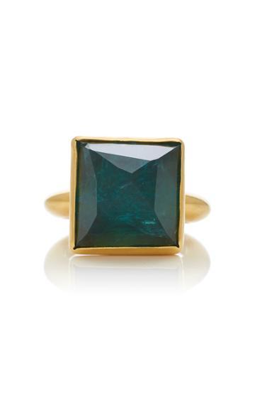 Christina Alexiou Movable Green Tourmaline Pyramid Ring