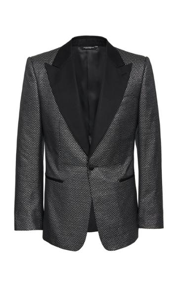 Dolce & Gabbana Peak-lapel Jacquard Tuxedo Jacket