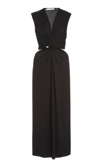Moda Operandi Marina Moscone Gathered Jersey Midi Dress