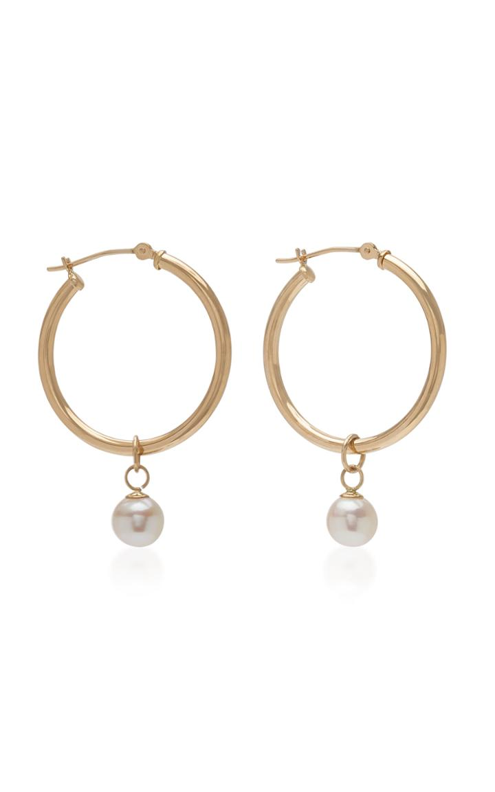 Mateo Detachable Pearl Hoop Earrings