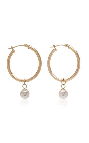 Mateo Detachable Pearl Hoop Earrings