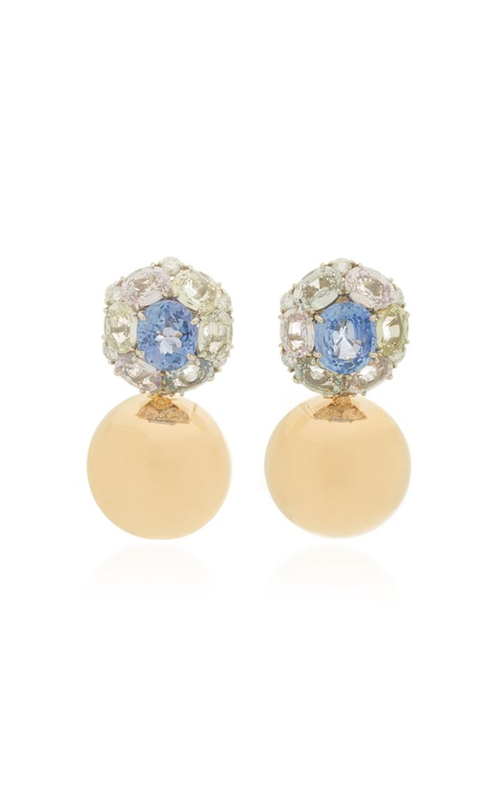 Vram One-of-a-kind Eon Earrings With Pastel Sapphires And Diamonds