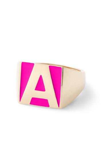 Moda Operandi Alison Lou Superlou Hot Pink Enamel Letter Ring