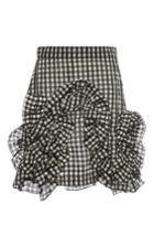 Msgm Gingham Ruffle Mini Skirt