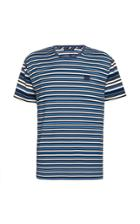 Acne Studios Elvin Appliqud Striped Cotton-jersey T-shirt