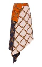 Jonathan Simkhai Saddle Print Handkerchief Skirt