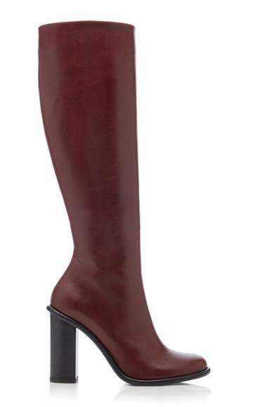 Marina Moscone Block-heel Tall Leather Boots