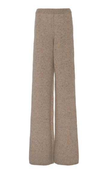 Joseph Tweed Knit Wool-blend Flared Pants