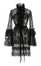 Costarellos Chantilly Lace Ruffled Dress