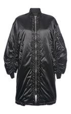 Msgm Shiny Oversized Bomber Jacket