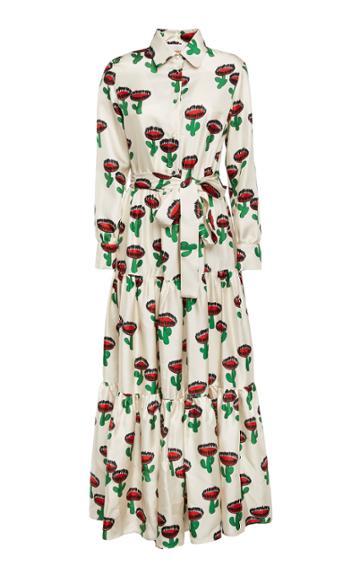 Moda Operandi La Doublej Bellini Printed Silk Maxi Dress Size: Xs