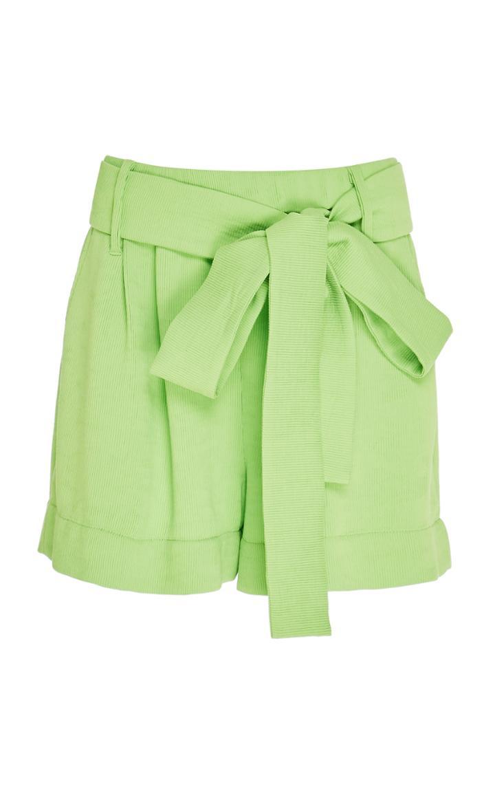 Moda Operandi Staud Sage Tie-detailed Pliss Shorts Size: 0