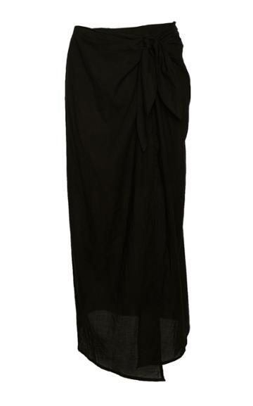 Anemone Tied Pima Cotton Wrap Skirt