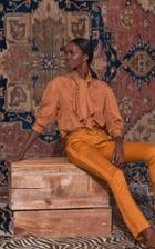 Johanna Ortiz A Distinguished Character High-rise Cotton-blend Pants