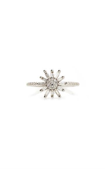 Moda Operandi Suzanne Kalan 18k White Gold Flower Ring Size: 4