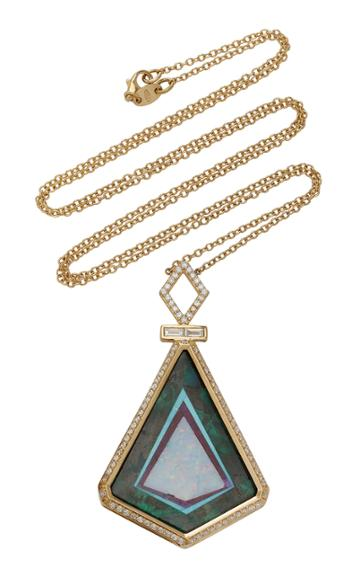 Jenny Dee Protection Totem 18k Gold And Multi-stone Necklace