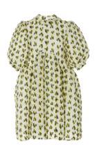 Cecilie Bahnsen Uma Cotton-blend Printed Mini Dress