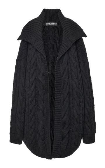 Moda Operandi Dolce & Gabbana Oversized Knit Cardigan