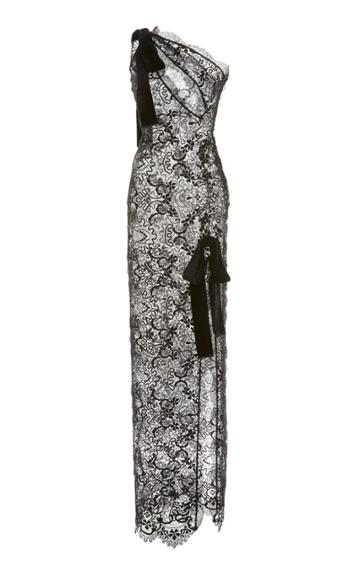 Moda Operandi Tom Ford One-shoulder Silk-blend Lace Dress