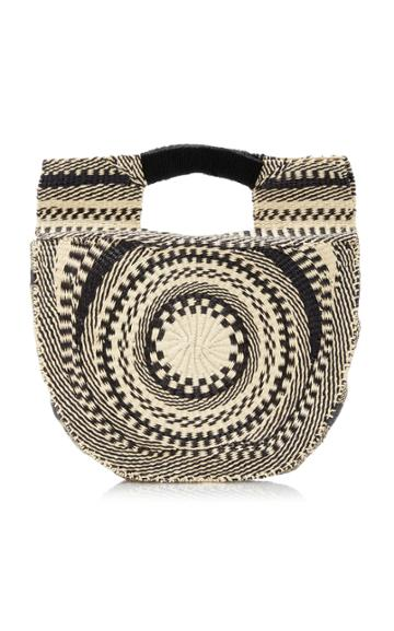 Sensi Studio Two-tone Straw Handbag