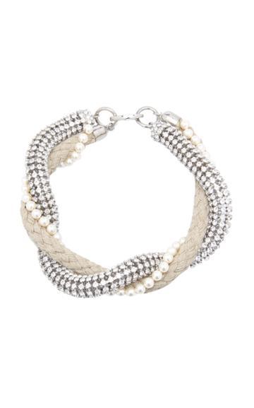 Miu Miu Crystal Rope Necklace