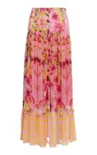 Roopa Pleated Button Down Maxi Skirt