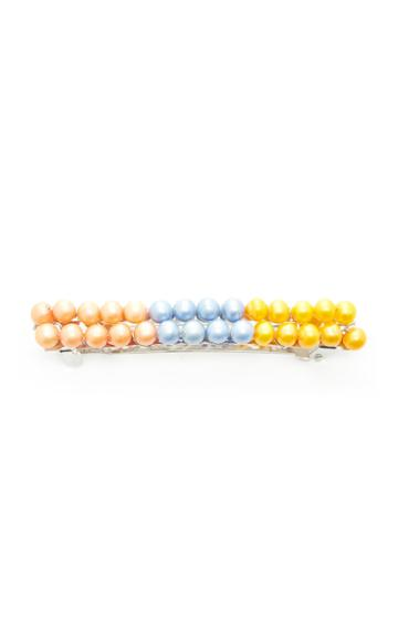 Timeless Pearly Exclusive Color-block Faux Pearl Barrette