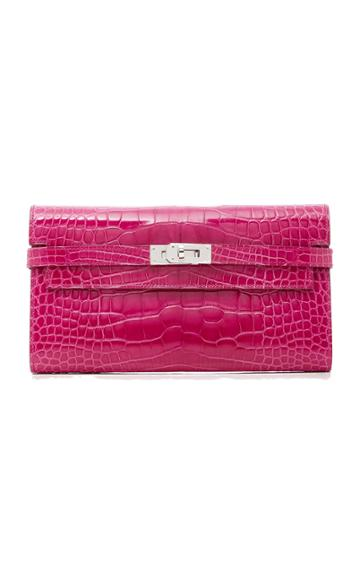 Heritage Auctions Special Collections Hermes Rose Scheherazade Shiny Alligator Kelly Wallet