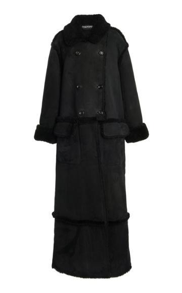 Moda Operandi Tom Ford Double-breasted Shearling Coat