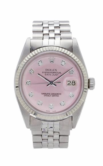 Vintage Watches Rolex Datejust Ice Pink Pearlized Diamond Dial