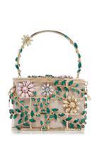 Moda Operandi Rosantica Holli Sofia Floral Crystal Top Handle Bag