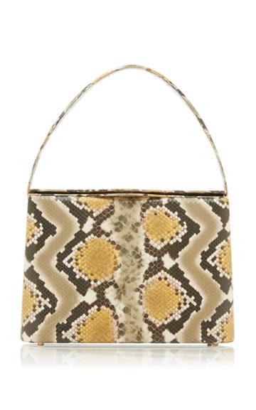 Moda Operandi Rejina Pyo Felix Snake-effect Leather Shoulder Bag