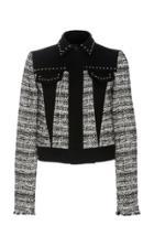 Giambattista Valli Cropped Cotton Tweed Jacket