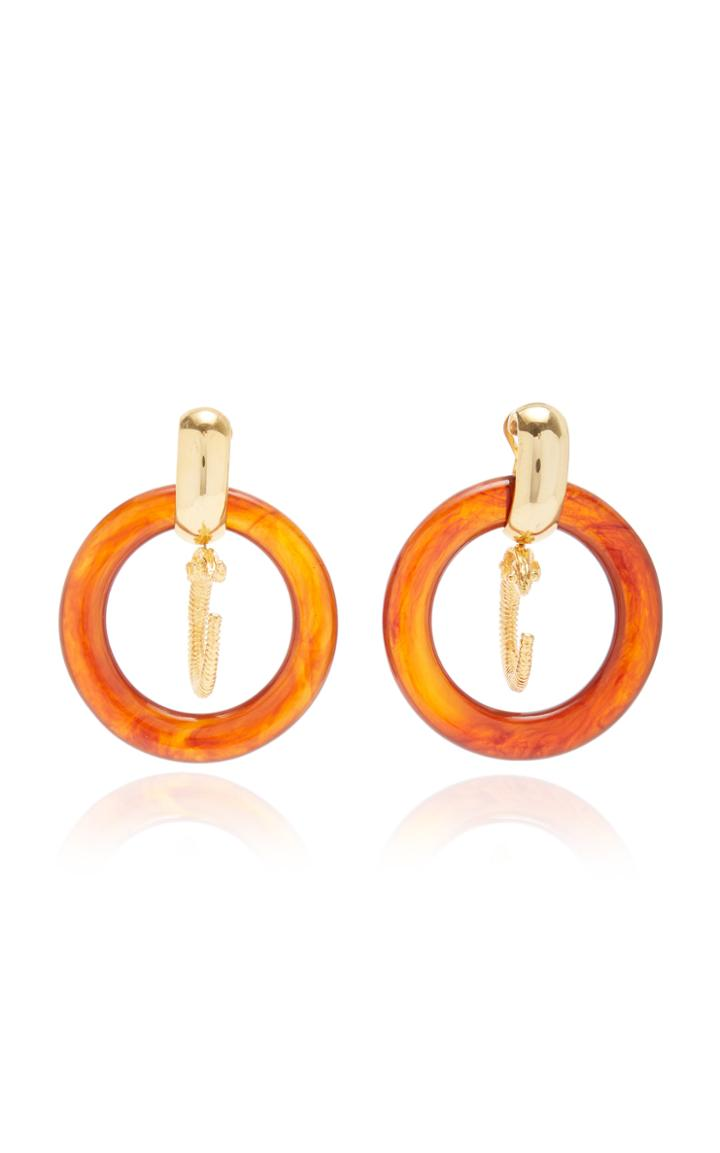 Moda Operandi Brandon Maxwell X Kenneth Jay Lane Tort Hoop Earrings